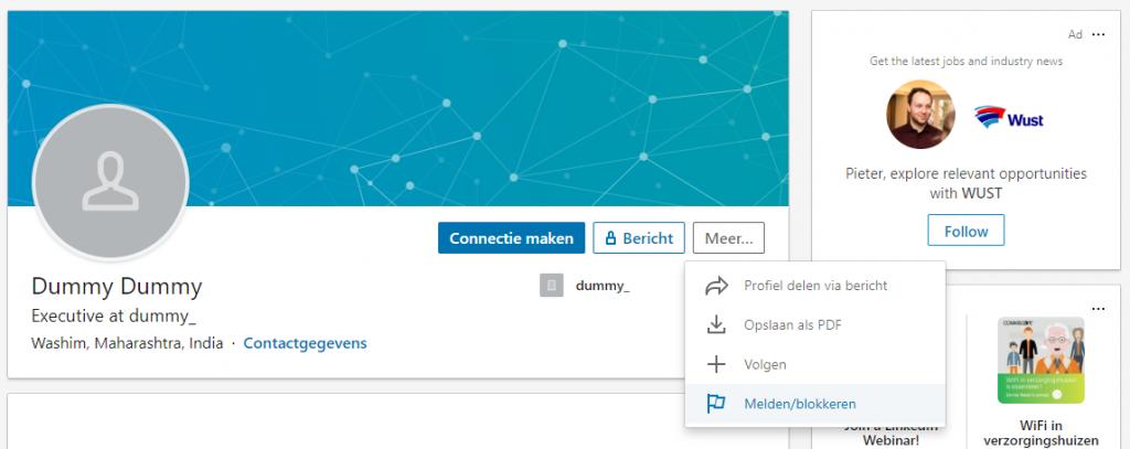 Iemand blokkeren op LinkedIn is niet moeilijk.