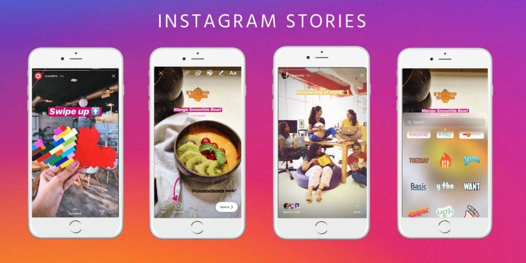 Een Instagram story plaatsen: voeg verschillende elementen toe aan je foto.