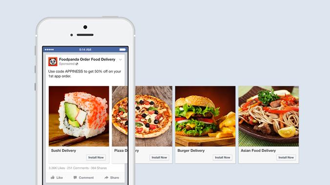 Elke afbeelding in een Facebook Carrousel advertentie moet minstens 1080 x 1080 pixels groot zijn.