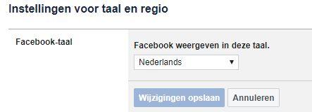 Hoe krijg je Facebook weer in het Nederlands?
