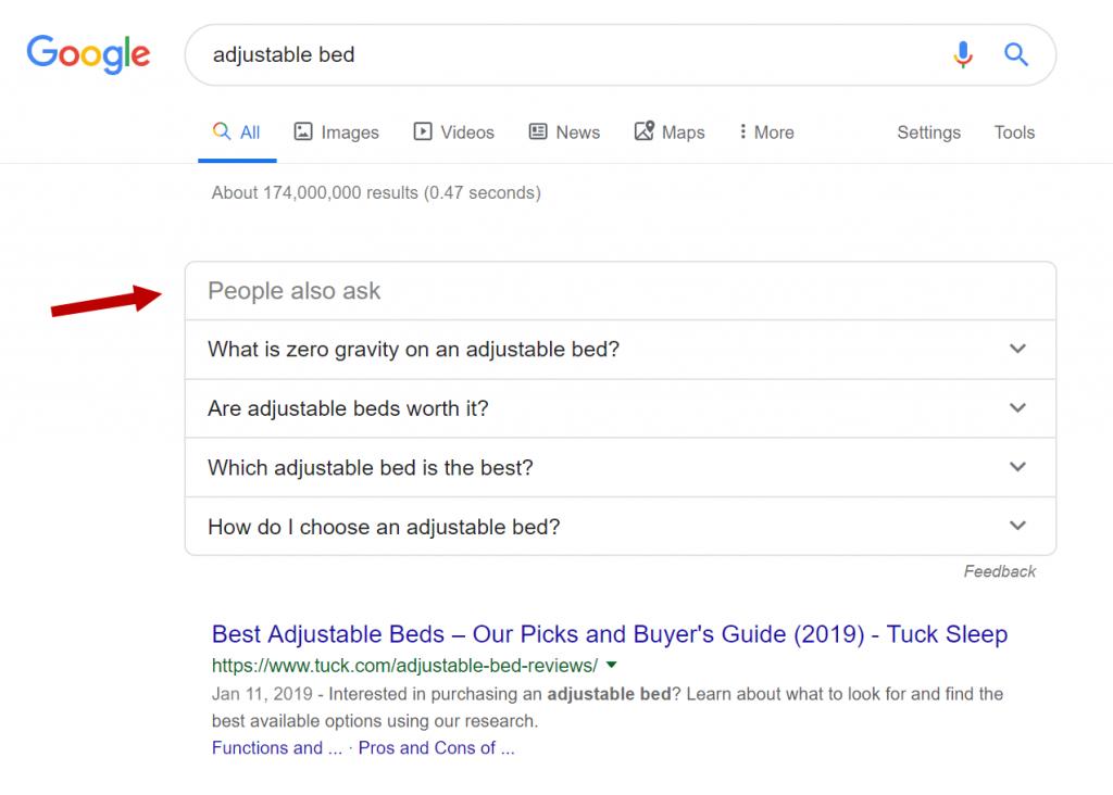 Mensen vragen ook in Google.